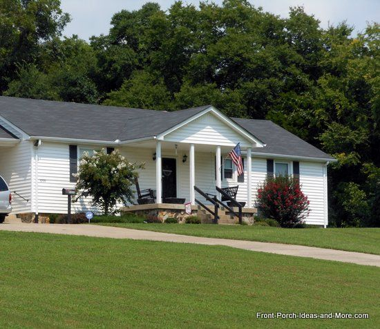 Ranch Home Porches Add Appeal And Comfort Square Columns House