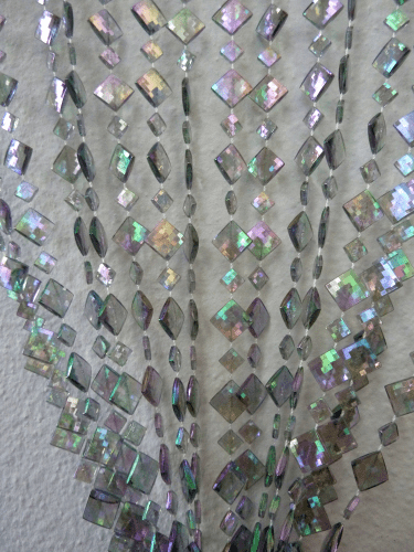 6ft Diamond Shaped Iridescent Smoke Beaded Curtain BEADED DOOR
