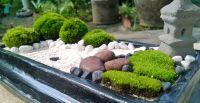 brown stone mini zen garden, DIY