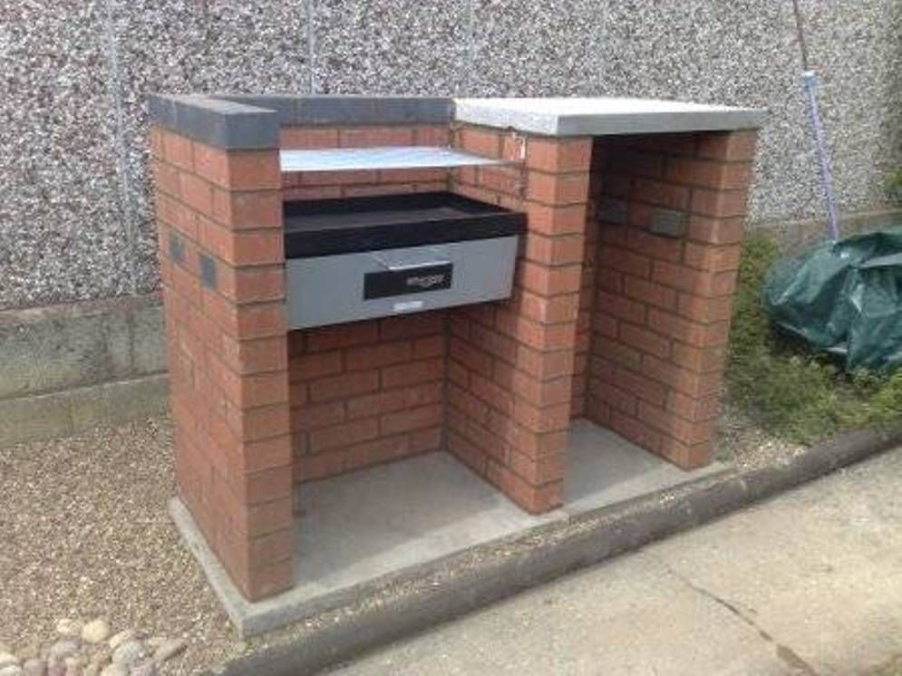 Compact Brick Bbq Grill Design Ideas : Outdoor BBQ Grill