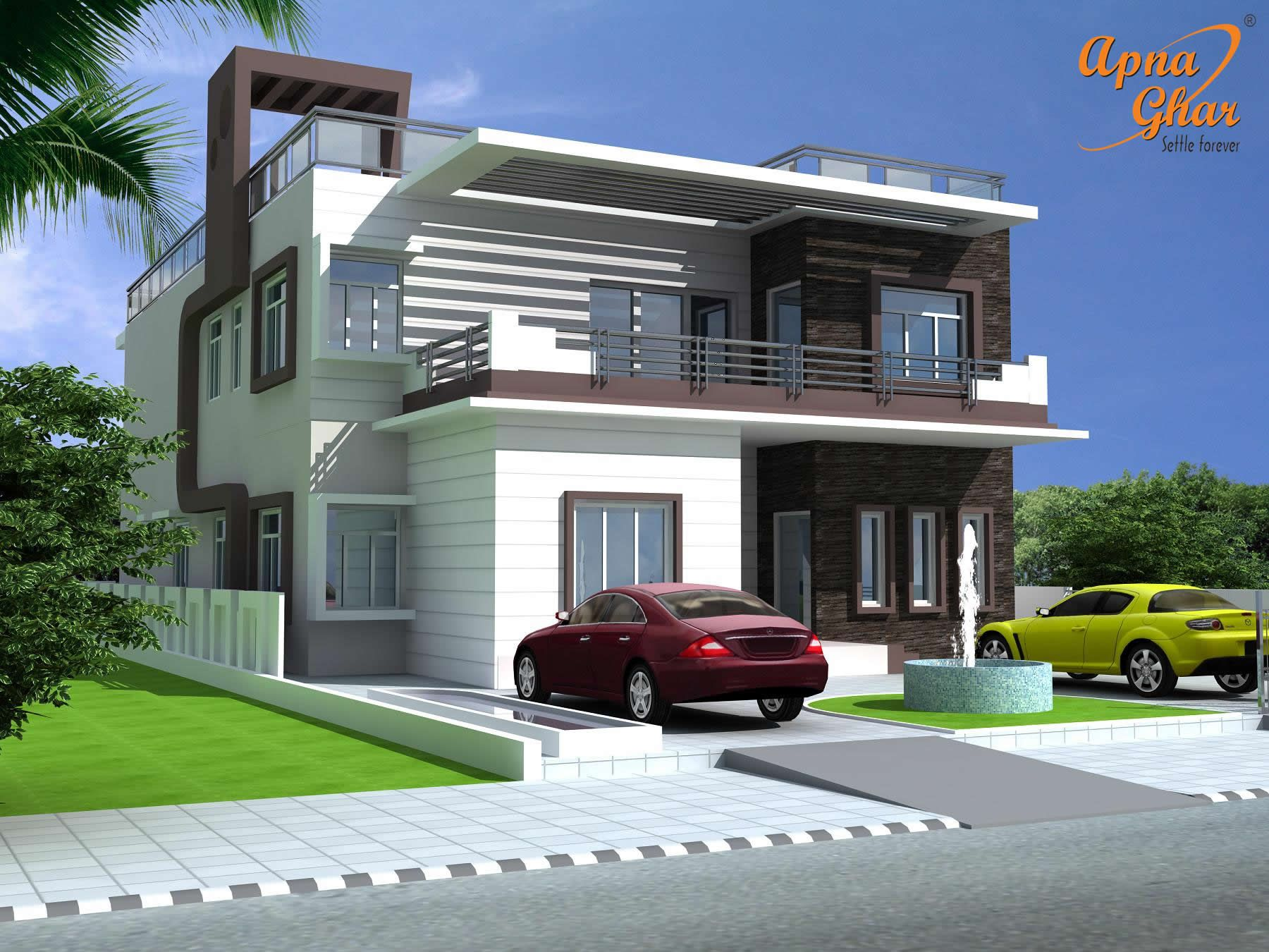 6 Bedrooms Duplex House Design In 390m2 (13m X 30m) Click