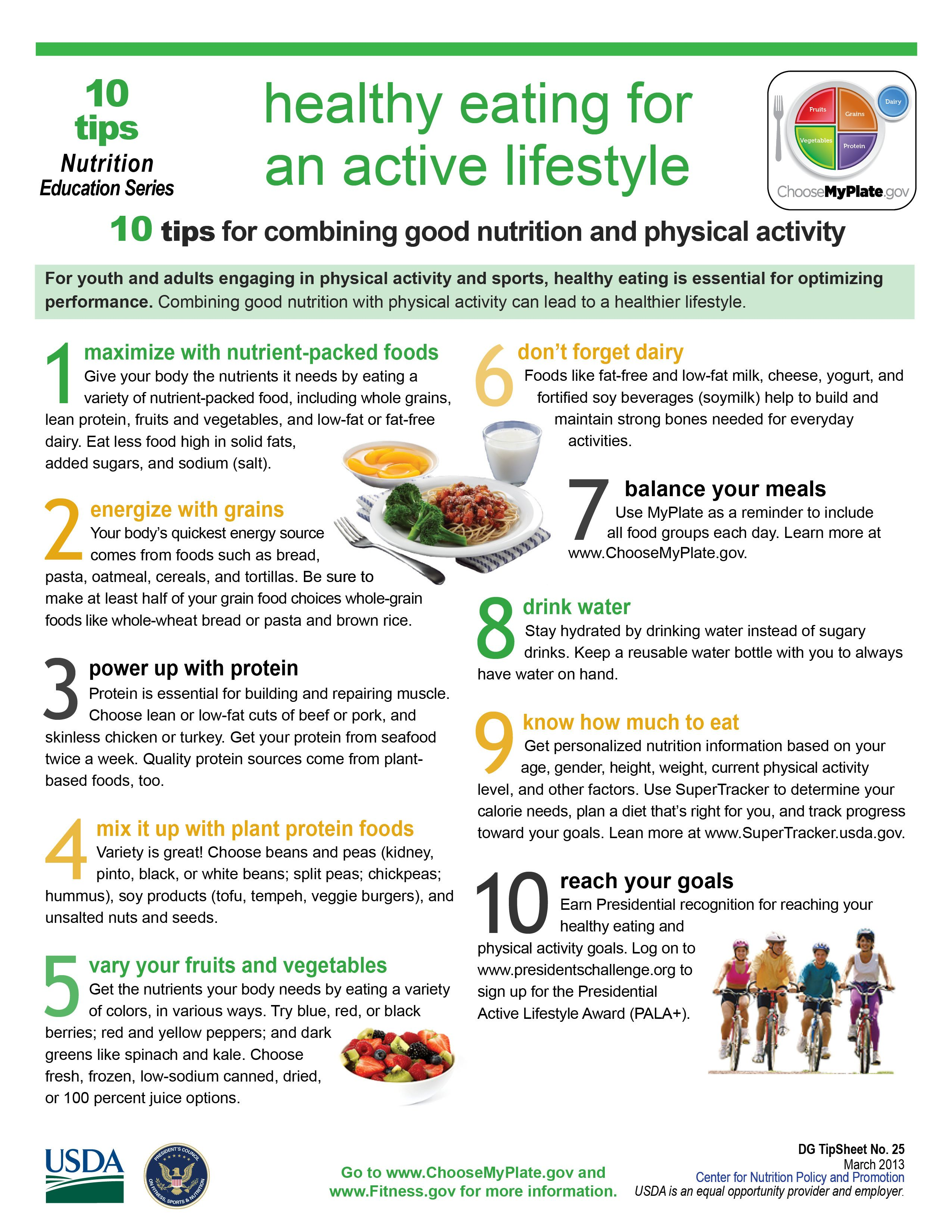 10 Tips Healthy Eating For An Active Lifestyle