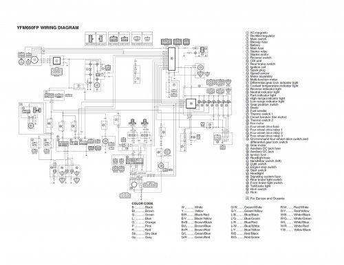 Wiring Diagram Yamaha Grizzly 660 YFM660FP Electrical Pinterest