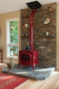 Country Living Room with Fireplace, Hardwood floors ...