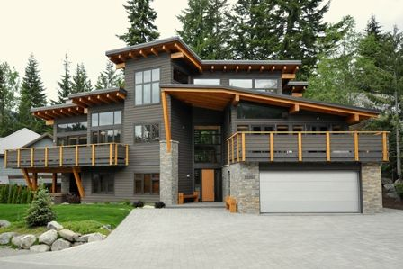 Modern House With Distinctive Roof Line; Photo By Jeff Kuly P
