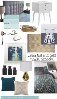 life as we know it...: Mood board | Tina's teal and gold ...