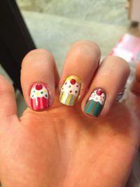 Amateur cupcake nail design :) | Nails | Pinterest | Makeup