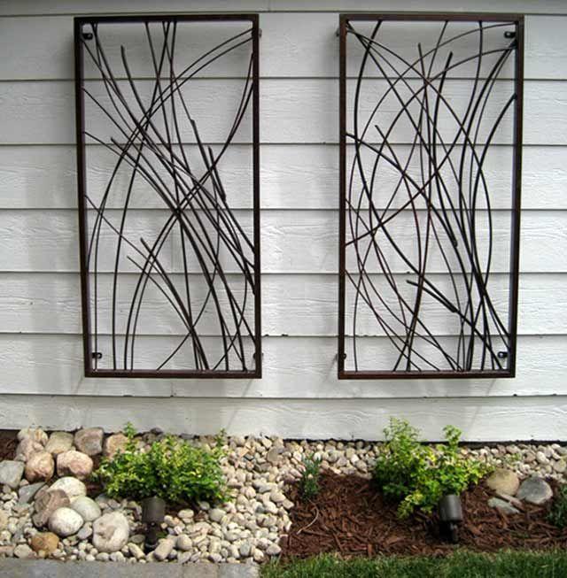 Metal garden wall art diy pinterest metals and gardens also rh