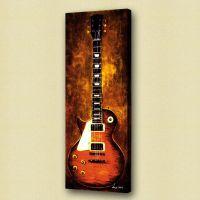 paintings of guitars | Art Modern Art Guitar Les Paul Oil ...
