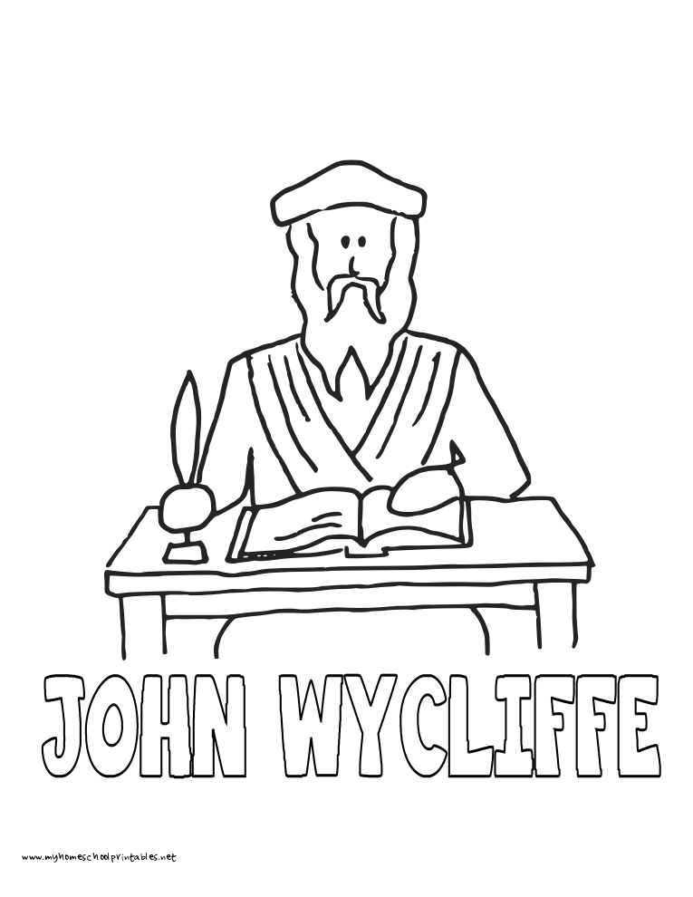 John Wycliffe Clip Art