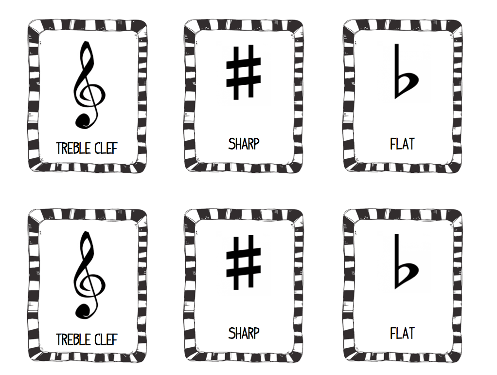 Music Symbol Memory Game- FREE Download from