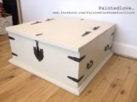Large storage chest/trunk/coffee table painted in Annie ...
