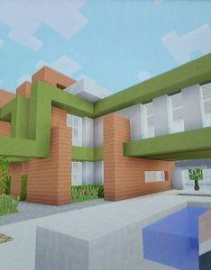 Modern house with easy materials minecraft housesminecraft ideasmodern also pinterest rh