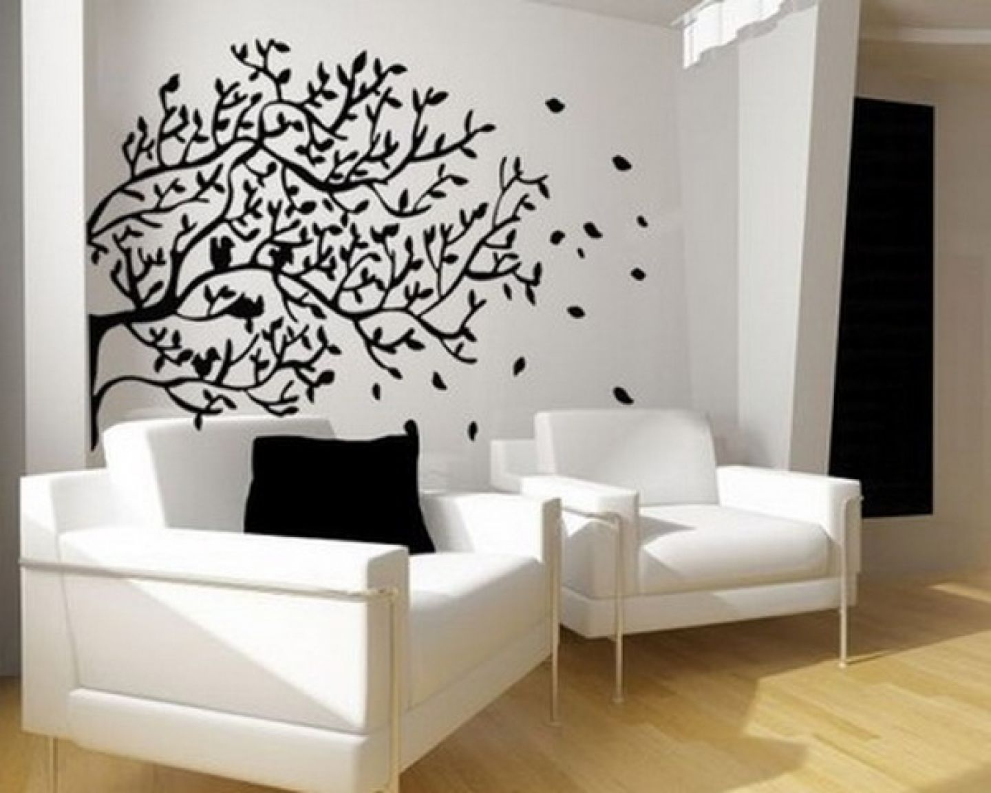 Black and white wall mural tree murals are large sized graphics which affixed to your also interior paint designs accent google search for the home rh pinterest
