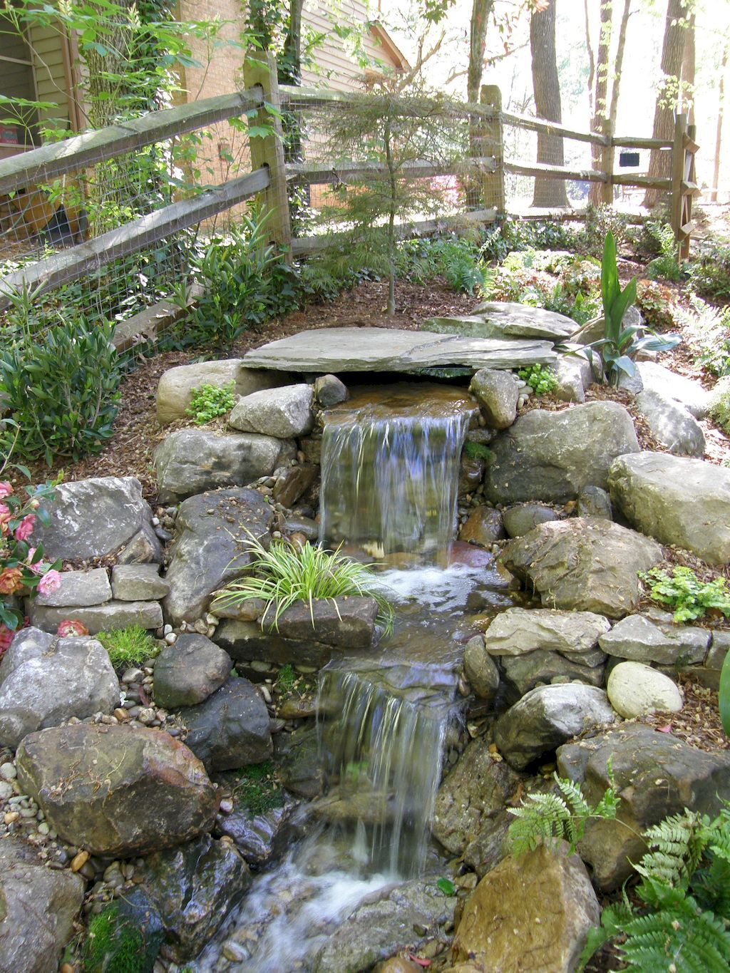 55 Small Backyard Waterfall Design Ideas  Waterfall design Backyard and Pond