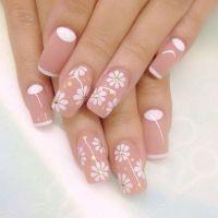 40 Nude Color Nail Art Ideas | White nail polish, Nude ...