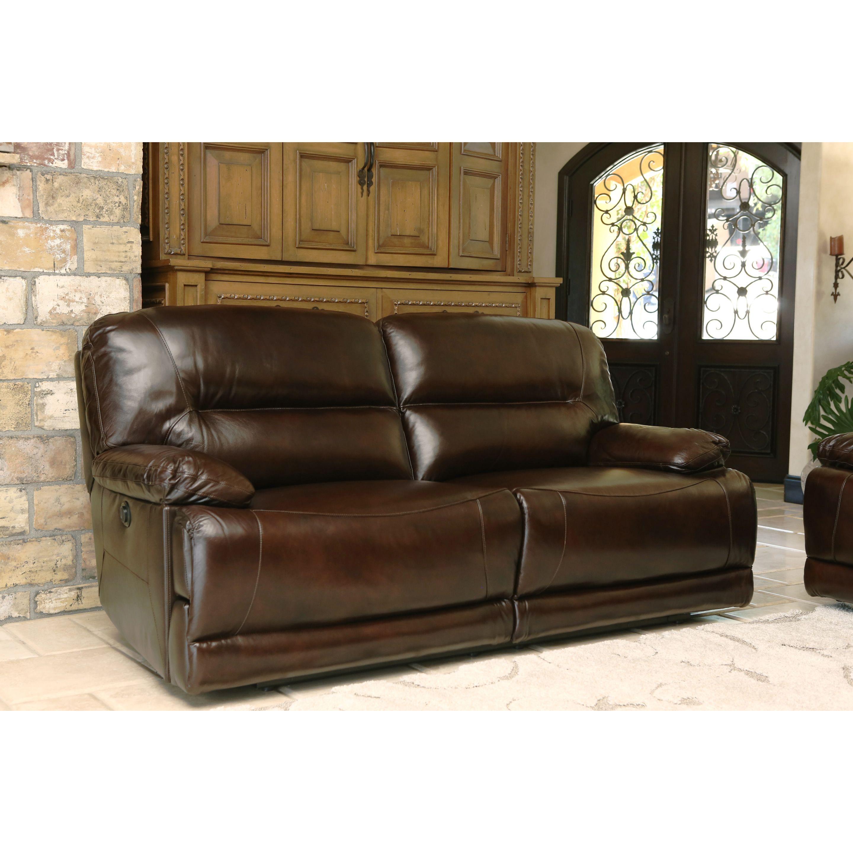 abbyson leather sofa z gallerie stella cleaning breckinridge top grain power reclining