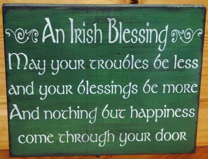 Irish Blessings Weddings Wedding Gifts T Primitive Signs