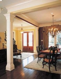 Plan sm french country house with master hideaway pinterest plans columns and bricks also rh