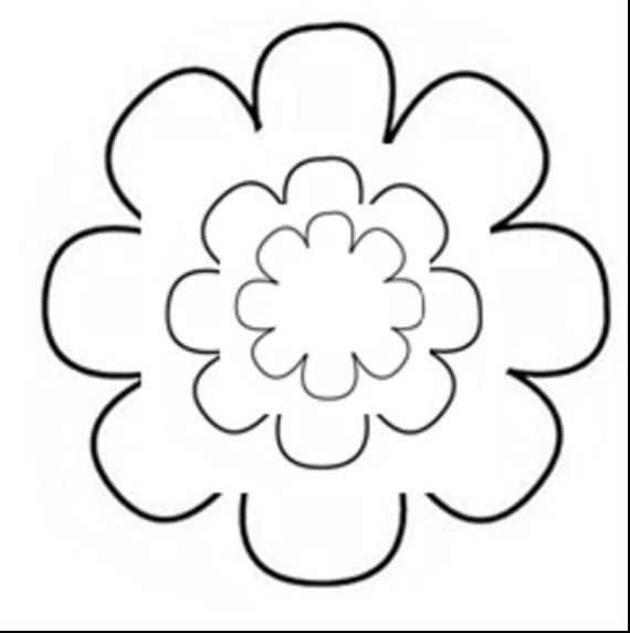 Flower Pattern Template 17 Sizes 8 Pedal Flower by