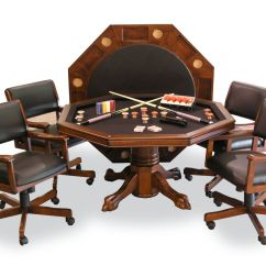 Poker Table Chairs With Casters Best Home Office Signature Combination Game Set W 4