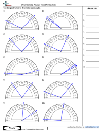 Angles Measuring Worksheet Math Circle. Angles. Best Free ...