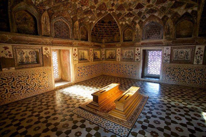 Image result for inside of Taj Mahal