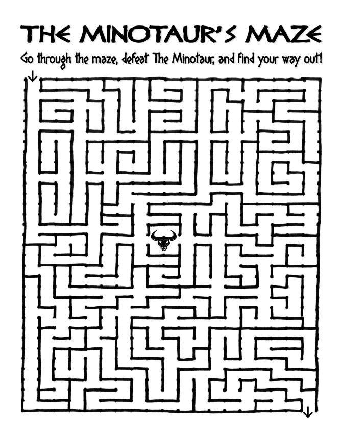 Minotaur Maze! Go through the maze, defeat the Minotaur