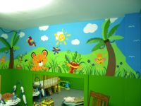 Daycare Jungle Mural - complete (wall 4) | MURAL Ideas ...