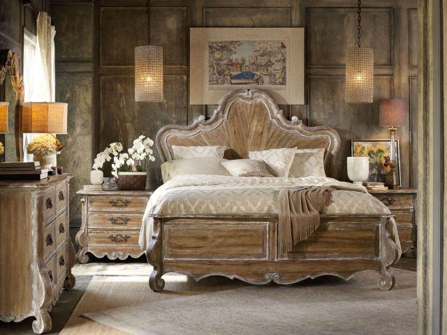 Hooker Furniture Bedroom Chatelet King Wood Panel Bed 5300
