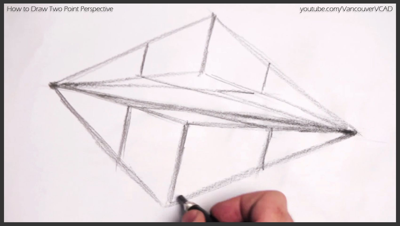 Free Tutorial On Drawing Objects In Two Point Perspective Youtube Watch V