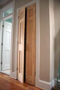 "DIY ""french doors"" on a closet - single solid wood door ..."