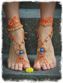 Hippie Feet Reserved Barefoot Sandals Burnt