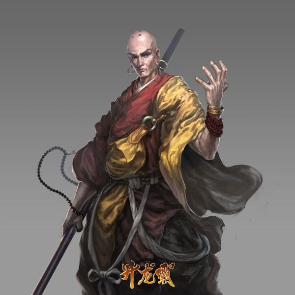 Warrior Shaolin Monk Concept Art