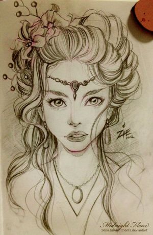 sketches hair sketch drawing drawings pretty pencil draw face cool inspiration amazing fairy woman pen illustration sized og elf portrait