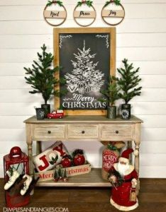 Incredible rustic farmhouse christmas decoration ideas pinterest and decor also rh
