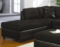 black microsuede couch