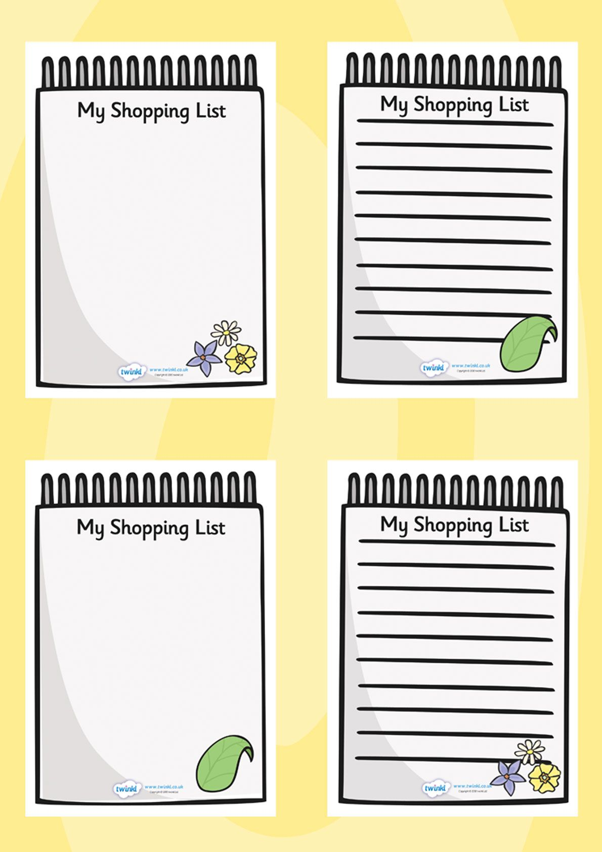 Twinkl Resources Gt Gt Role Play Shopping Lists Gt Gt Printable Resources For Primary Eyfs Ks1 And