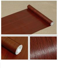 Self Adhesive Mahogany Wood Grain Contact Paper Covering