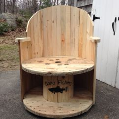 Spool Chair For Sale Electric Recliner Power Supply Simple Inexpensive Garden Made Out Of A Cable Wire