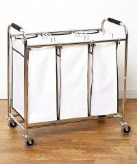 Saganizer laundry hamper with wheels rolling laundry cart ...