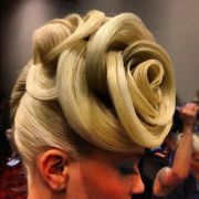 avant garde hair design blonde