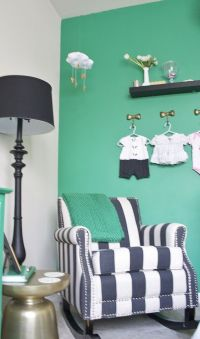 Kate Spade Inspired Emerald Nursery | Rocking chairs ...