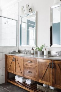54 Gorgeous Farmhouse Master Bathroom Decorating Ideas ...