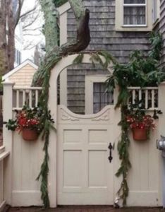 christmas decoration ideas to decorate your outdoor gate also rh pinterest - Christmas Gate Decoration Ideas