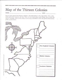 Free Printable 13 Colonies Map | social studies ...