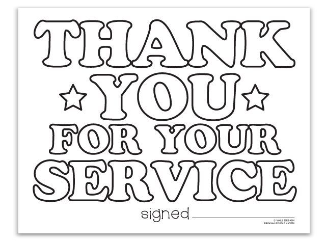 Thank You Military Coloring Pages Sketch Coloring Page