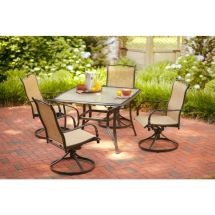 Hampton Bay Altamira Diamond 5-piece Patio Dining Set