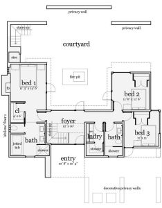 Floor plan also wb stunning contemporary house plans home rh pinterest
