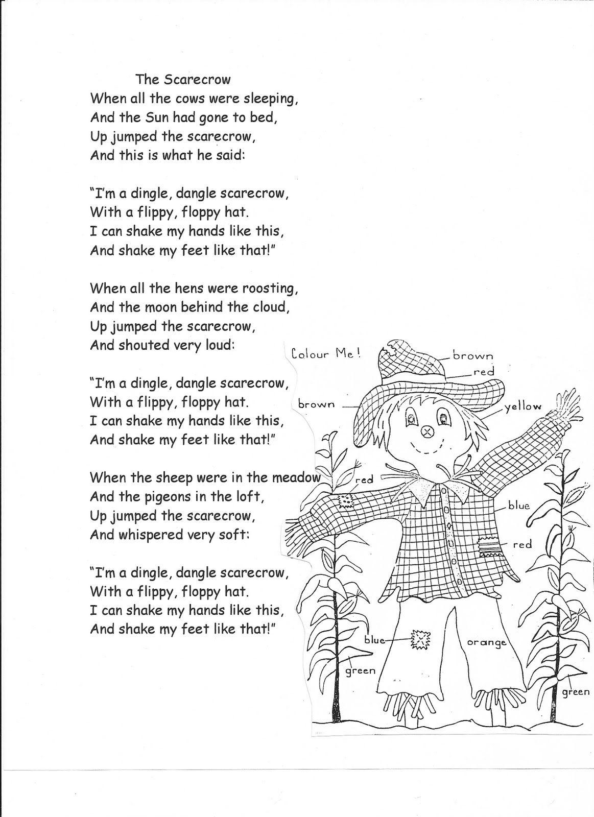 Words Dingle Dangle Scarecrow